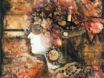 Artist's fantastic steampunk collages are made from electronic waste ... | Steampunk Elsewhere | Scoop.it