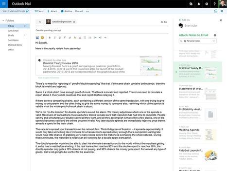 Présentation d'Evernote pour Outlook - Evernote en français | Evernote, gestion de l'information numérique | Scoop.it