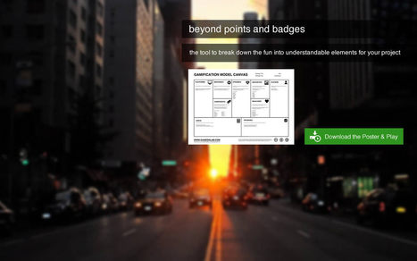 Gamification Model Canvas | Transmedia and Learning | Scoop.it