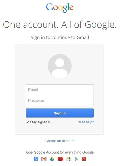 The New Google Sign In Page [Gmail help and information]   Social Media Scoop   Scoop.it