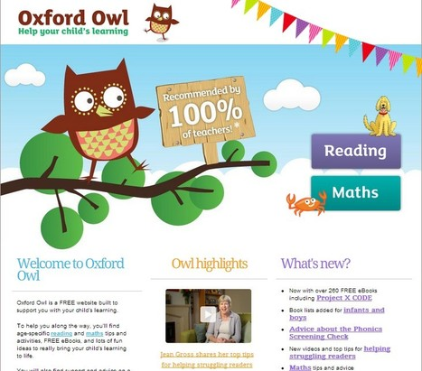 Help your child's learning with free tips and eBooks | Oxford Owl | UpTo12-Learning | Scoop.it