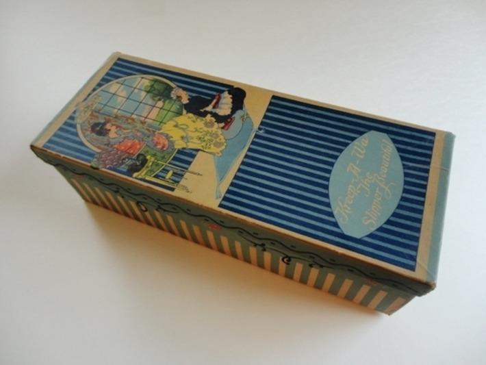 Wonderful Kreep-A-Wa Art Deco Advertising Slipper Box - The Vintage Village | Antiques & Vintage Collectibles | Scoop.it