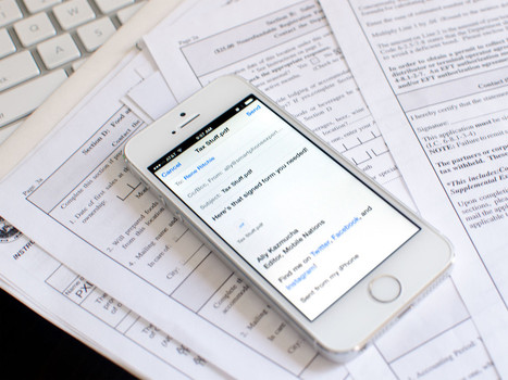 How to scan, sign, and send a PDF from your iPhone or iPad, no printer required | Technology | Scoop.it