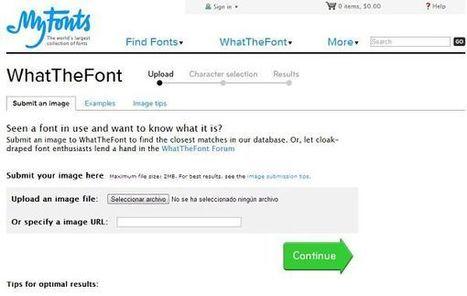 WhatTheFont, descubre cuál es la tipografía empleada en cualquier imagen | Las TIC y la Educación | Scoop.it