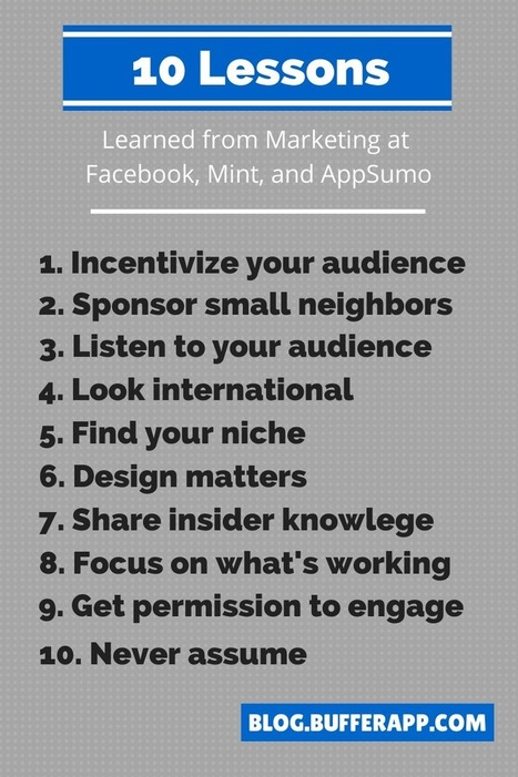 10 Marketing Lessons Learned From Working at Facebook | Extreme Social | Scoop.it