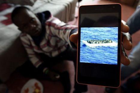 """Résultat de recherche d'images pour """"smartphone + immigrés + aquarius"""""""