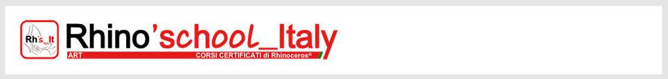 Rhino'school Italy, la scuola italiana di Rhino 3d