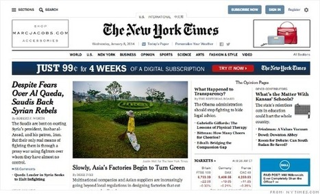 New York Times redesign points to future of online publishing | Scott's Linkorama | Scoop.it