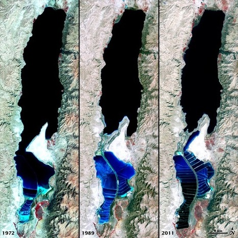 Image of the Day: Satellite View of Receding Dead Sea, 1972, 1989, and 2011 | Remote Sensing News | Scoop.it