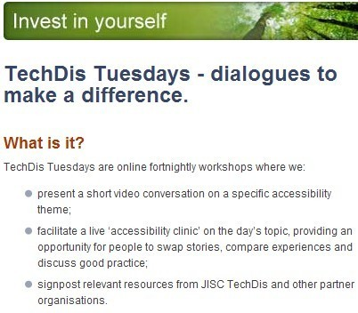 JISC Techdis - Invest in Yourself - Free Resources | AssistiveTechnology | Scoop.it