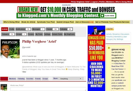 K is for Kingged.com: Earn Money While You Read... - Philipscom | Techie News From Around The World | Scoop.it