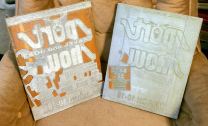 A Pair of Vintage Milwaukee Wisconsin Sport Travel & Boat Show Poster Printing Plates TWO COLOR Large Print Blocks Industrial   Antiques & Vintage Collectibles   Scoop.it
