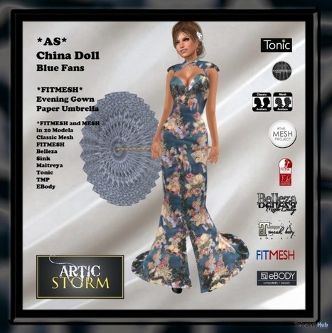 bd6247ee566 China Doll Blue Gown January 2017 Subscriber Gift by Artic Storm