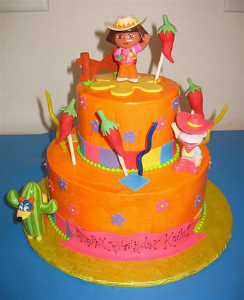 How Dora birthday cakes make a party memorable | BIRTHDAY ... | Disney Baking Recipes | Scoop.it