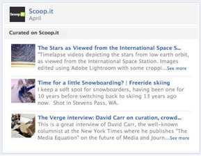 CURATION - Scoopit Curation on your Facebook Timeline | Scoop.it Tips | Scoop.it