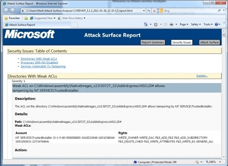 Attack Surface Analyzer 1.0 Released | IT Security | Scoop.it