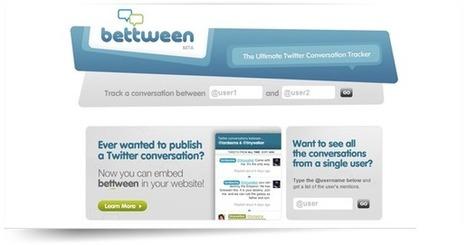 Bettween, pour suivre une conversation en 2 utilisateurs sur Twitter | Superkadorseo | Scoop.it