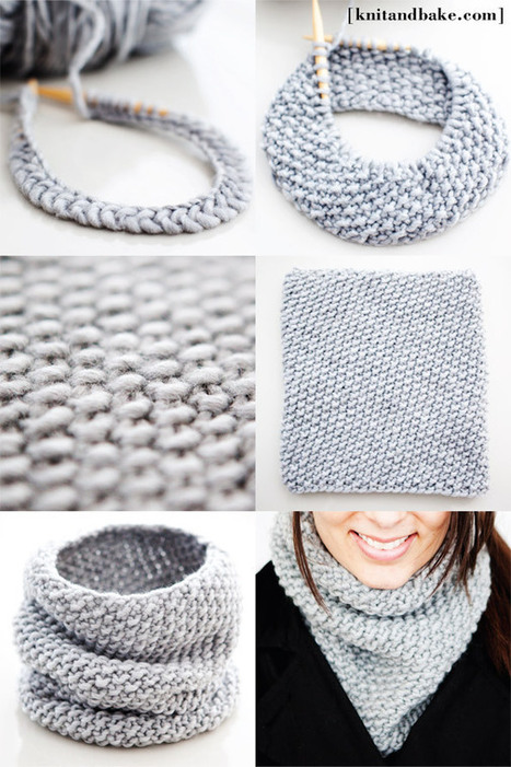 One Skein, One Night, Seed Stitch Tall Cowl [ E...