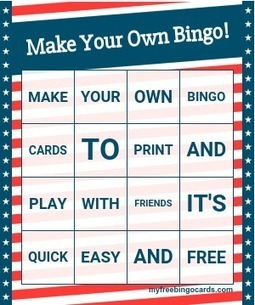 myfreebingocards.com - free custom bingo card generator - myfreebingocards.com   Serious Play   Scoop.it