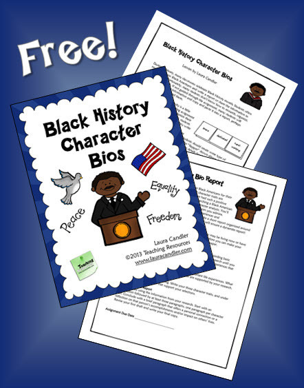 Black History Character Bios | Seasonal Freebies for Teachers | Scoop.it