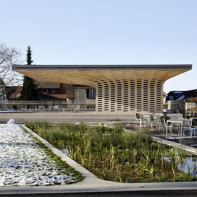 [Zug, Switzerland] Wooden city library by Ramser Schmid built beside Swiss library | The Architecture of the City | Scoop.it