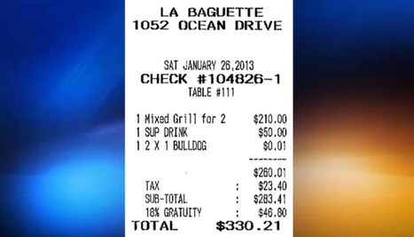 """South Beach restaurant charges $330 for the lunch """"special"""" (VIDEO)   The Billy Pulpit   Scoop.it"""