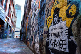 Writing's on the wall for political graffiti as protesters move online - The Age | Street art news | Scoop.it