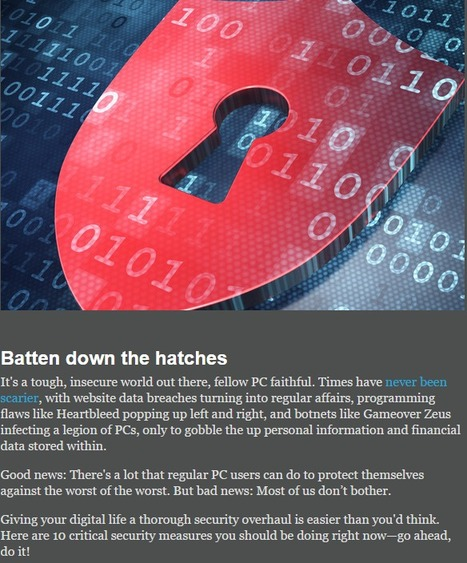 10 critical security habits you should be doing (but aren't) | CyberSecurity | Digital CitizenShip | ICT | Pedalogica: educación y TIC | Scoop.it