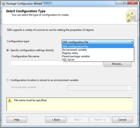SSIS 2012 – Package Configurations Menu O