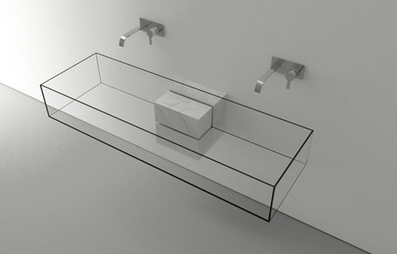 Wireframe Wash Basin: Minimalist Effect Forms Invisible Sink | Art, Design & Technology | Scoop.it