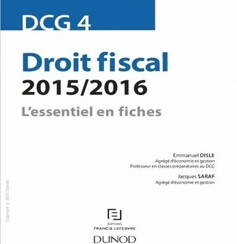 DCG 4 - Droit fiscal - Dunod - 2015/2016 - Telecharger Cours | Cours Informatique | Scoop.it