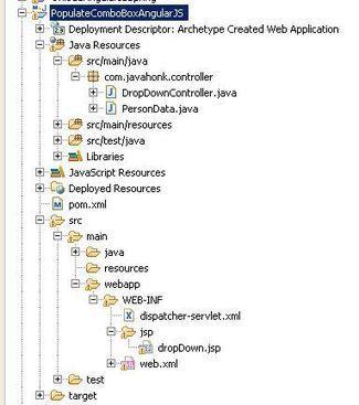 AngularJS Drop Down Spring MVC JSON example | B