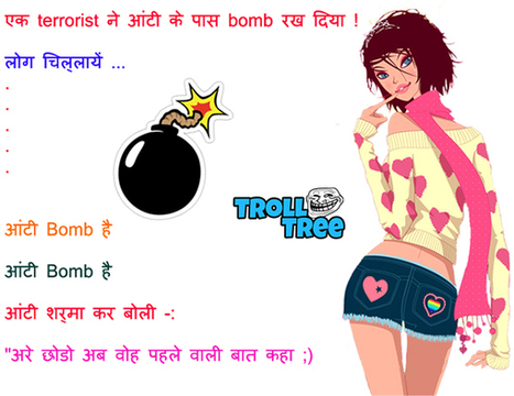 Aunty Bomb Funny Hindi Jokes Pictures T
