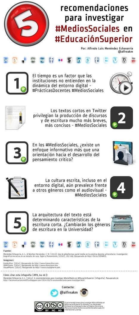 Redes Sociales en la Educación Superior #infografia #infographic #socialmedia #education | Mi clase en red | Scoop.it