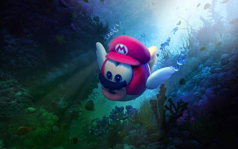 Super Mario Odyssey Underwater 4k Wallpaper