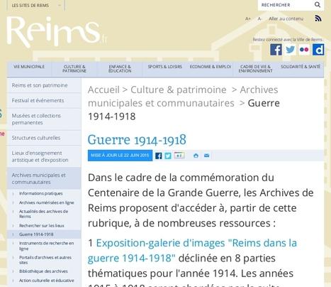 GénéInfos: Les archives de la ville de Reims recontextualisent la Grande guerre | Nos Racines | Scoop.it