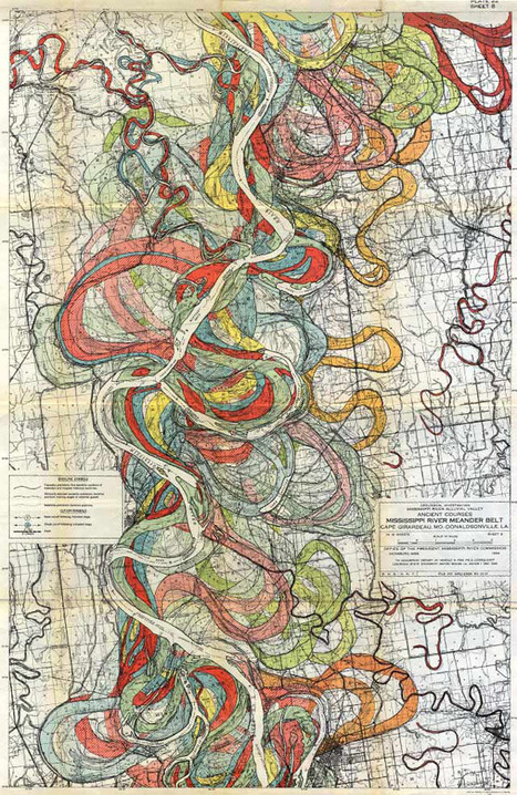Vintage Maps Trace the Meandering Mississippi | AP Human Geography Education | Scoop.it