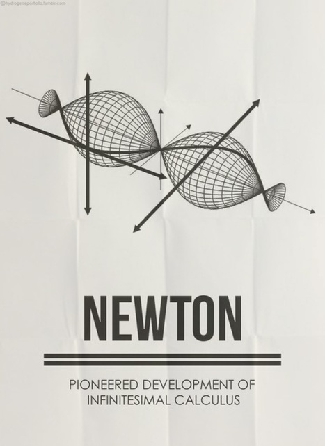 Minimalist Posters Pay Homage To Famous Mathematicians - DesignTAXI.com | Math, technology and learning | Scoop.it