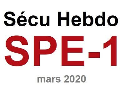 Sécu Hebdo n°spécial du 15 mars 2020