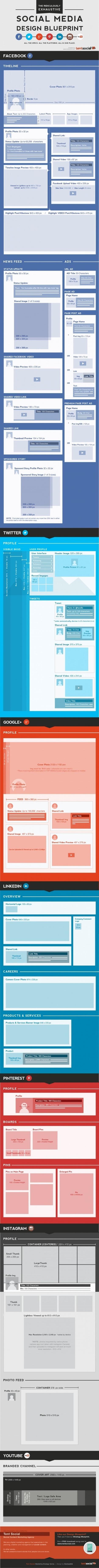 Guide Complet des Dimensions des Images des Top Réseaux Sociaux [Infographie] - Emarketinglicious | Facebook Pages | Scoop.it