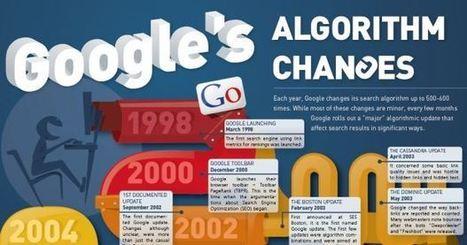 I cambiamenti più importanti dell'algoritmo di Google [INFOGRAFICA] | Web 2.0 Marketing Social & Digital Media | Scoop.it
