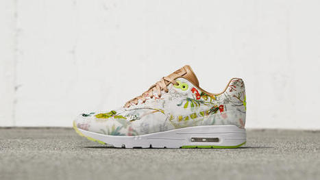 NikeCourt x Liberty Air Max 1, designed using an exclusive print, Dawn Meadow. | #Design | Scoop.it