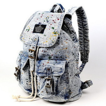 Denim Graffiti backpacks for girls | school laptop bags from Vintage rugged canvas bags | personalized canvas messenger bags and backpack | Scoop.it