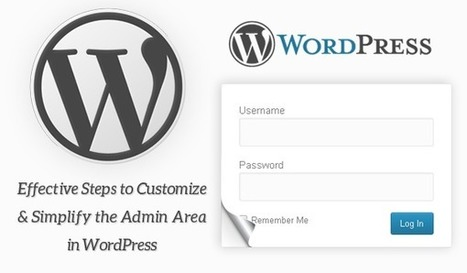 Effective Steps to Customize & Simplify the Admin Area in WordPress | Web Development Blog, News, Articles | Scoop.it
