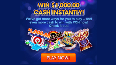 PCH Daily Instant Win Games   Sweepstakes   Sc