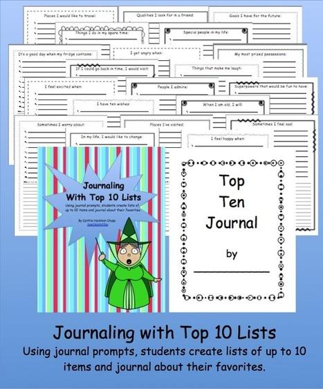 Journal Prompts Using Top Ten Lists In the Classroom | Journaling Helps! | Scoop.it