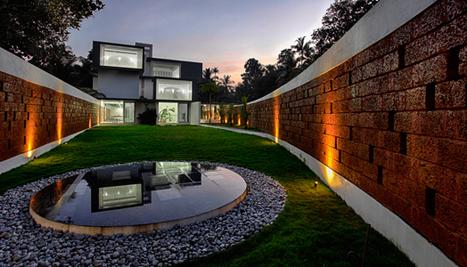 India Art N Design Inditerrain Running Wall Residence Architecture Building Design Interior