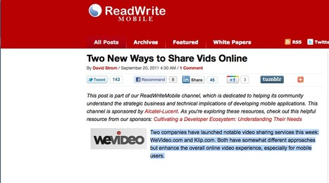 Two New Ways to Share Vids Online | Video for Learning | Scoop.it