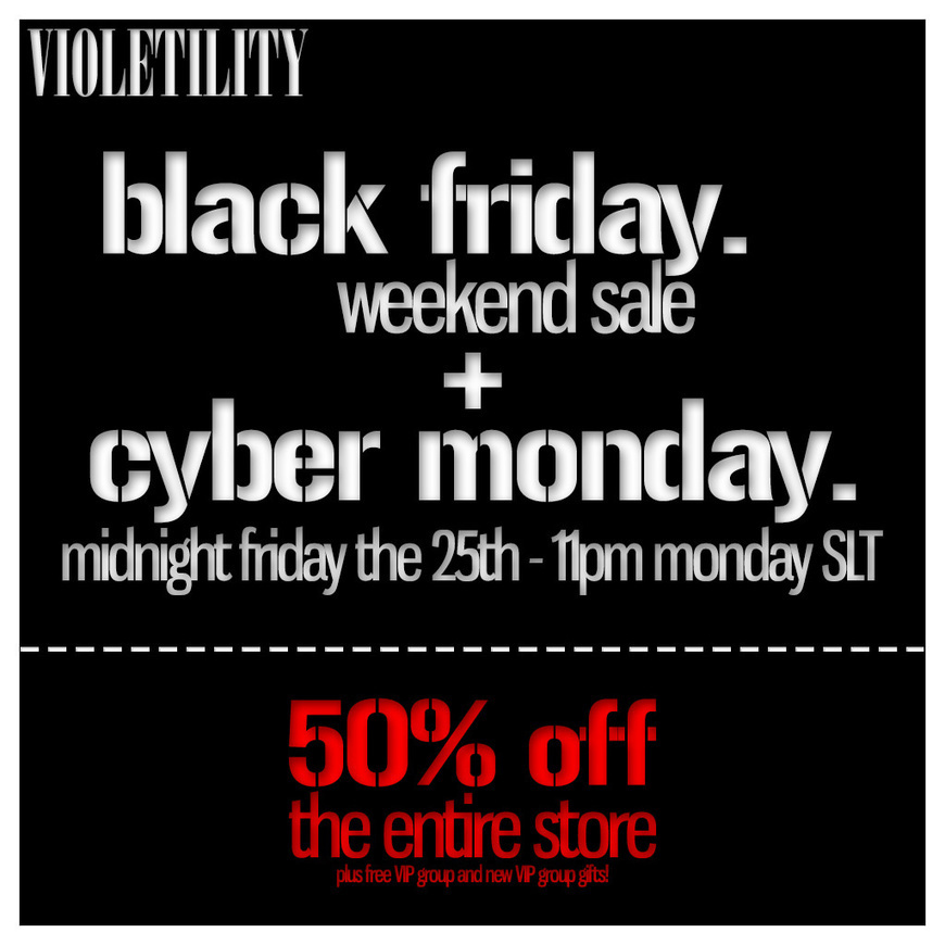 Black Friday Violetility Second Li