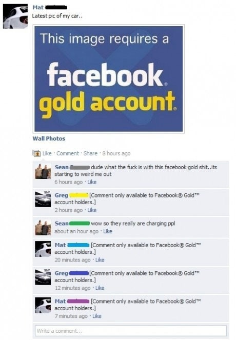 Facebook Gold Membership Hoax | Positively Social | Scoop.it